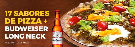 17 Sabores de Pizza + Budweiser Long Neck
