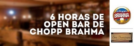 06 Horas de Open Bar de Chopp Brahma